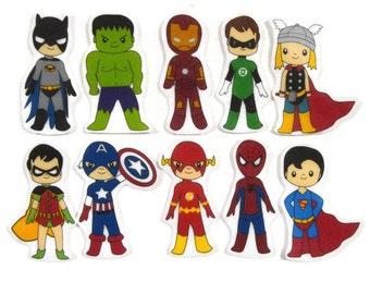 Superhero Boys, Felt Board, Flannel Board, Felt Set, Homeschool, Busy Book, Felt Story, Story Time, Quiet Book, Imaginative Play, Teacher