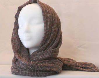 Muti-colored wide scarf / wrap