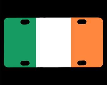 Bicycle License Plate, Ireland Flag Image Design, Mini License Plate, Bike Tag, Irish Flag