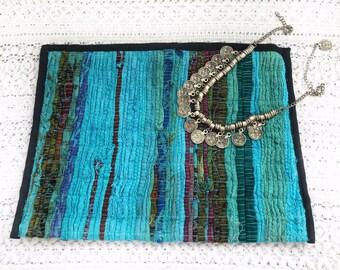 Kilim Handmade Bag, Kourelou Bag, Pouch Bag, Cosmetics Bag, Boho Bag, Embellished Bag, Boho Summer, Women Accessories, ''Over The Sky''