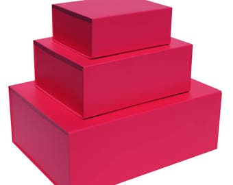 Pink Magnetic Gift Boxes available in 2 box sizes