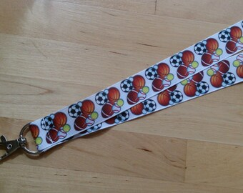Balls! Ribbon Lanyard / ID Badge Holder