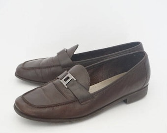 Vintage 90's Unisa Brown Loafers- Womens Size 8.5 B