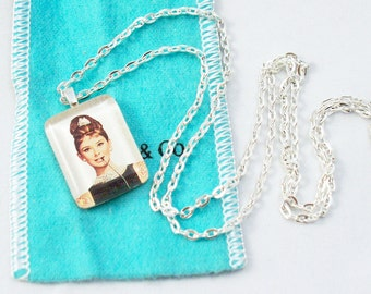 Holly Golightly Glass Pendant Necklace