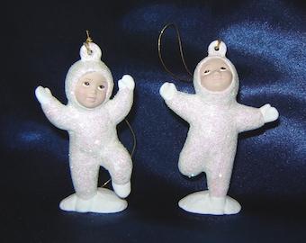 Snow Baby Ornaments - Group A - Ceramic Snow Babies - Ceramic Ornaments - Christmas Ornaments