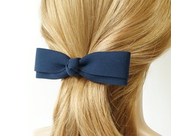Slim and straight Hair Bow French Barrettes Women Hair Accessories