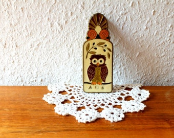 Paper paperclip Vintage brass Enamel Owl ship