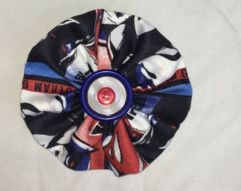 Batman and Superman Fabric Large Pinwheel Bow