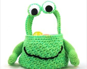 Easter Basket Crochet Pattern Alien Monster PDF INSTANT DOWNLOAD