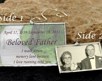 Double Sided Memorial Ornament Personalized