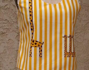 SALE  4 Pc. Beachdress, Tankini, Scarf Fun Print Cotton Size 6/8 Item # 2024 Resort Apparel