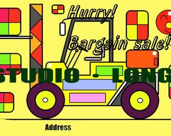 Bargain sale notice card.(Forklift)