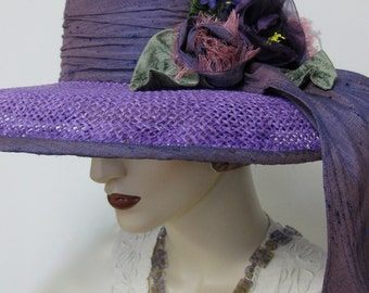 Purple Ombre Vacation Hat