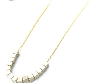 Silver Metal Square Necklace