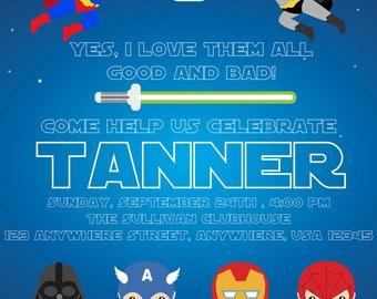 Super Hero And Bad Guys Birthday