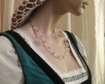 Italian Renaissance necklaces based on Mainardi portrait.  Florence circa 1480.