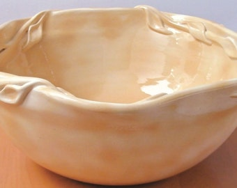 Sand Vessel Sink in rich earth tones with Vining Leaf Rim adds Elegance to your home.