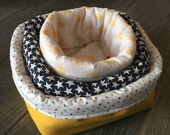 Set of 3 nesting baskets that are completely customizable.