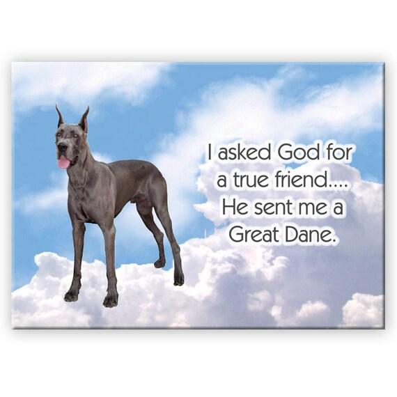 Great Dane True Friend Fridge Magnet No 1