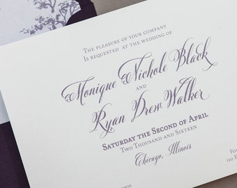 Elegant Calligraphy Toile Wedding Invitation Digital Download,French Calligraphy Wedding Printable Invitation,Wax seal Digital Download, DIY