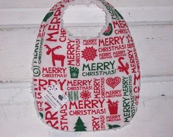SALE!!!!  Christmas Baby Bib !  FREE SHIPPING !!!!!