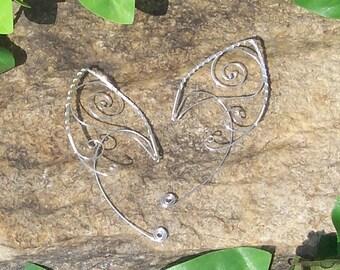 Elf Ear Cuffs - Triskelion Swirl - Elven Jewelry - Made to Order