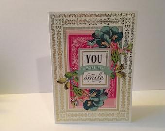 Handmade Card- You Make Me Smile