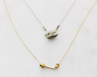 Dainty Silver and Gold Necklace