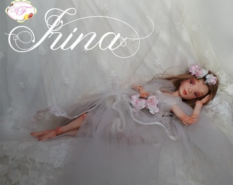 Irina, Bjd doll created entirely by hand in polymer clay
