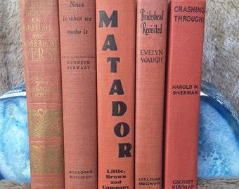 Vintage Red Book Set