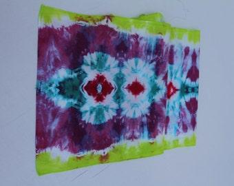 "Tie Dye Tapestry- Tie Dye FABRIC- 100% cotton-60"" x 15"" - Table Runner-"