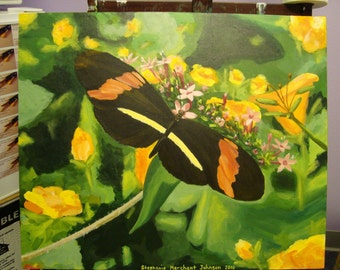 Black Butterfly Original Acrylic Painting