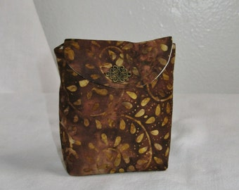 Chocolate Brown Batik Tea Wallet