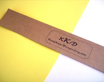 """Belly band, personalized, set of 25, cardstock band, soap bands, product bands 1 1/2 x 11 """", wrap band"""