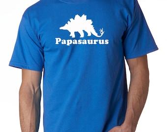 Papa shirt, papa dinosaur shirt, grandpa gift, mens dinosaur shirt, stegosaurus shirt, papa gifts