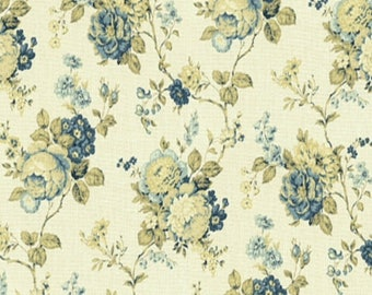 2 3/4 yards (one piece) Waverly Fabric: Coventry Hill  Color Chambray Blue
