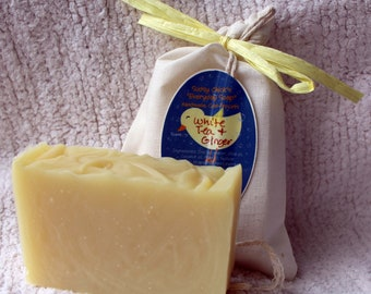 """White Tea & Ginger scented """"Everyday Soap"""" Handmade Cold Process Homemade"""