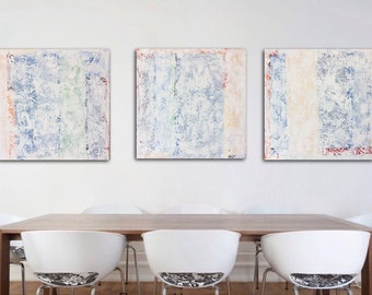 Abstract Painting Large Abstract Tripych Painting Original Wall Art on Canvas  Modern Acrylic Canvas Painting