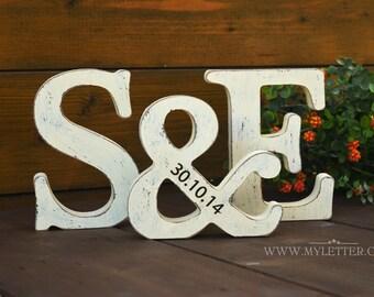 Personalized wedding letters - Wedding decor - Initials  - Wedding Gifts - Rustic Wedding Decor