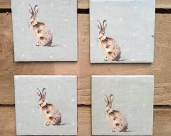 Hare Coasters (set of 4)