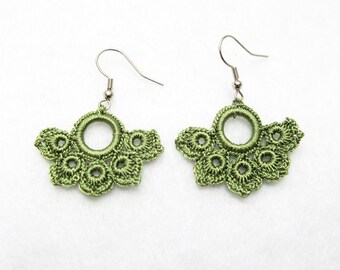PDF Tutorial Crochet Pattern...Dangle Earrings-1