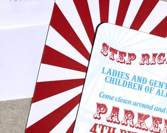 Step Right Up Invitations