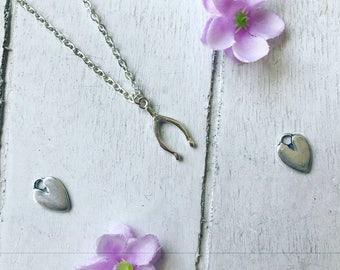 Jessie Silver Plated Wishbone Necklace / Silver Plated Jewellery / Wedding Jewellery /  Gift Idea / Jewellery Trends