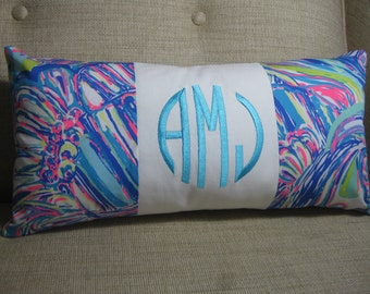 """Lilly Pulitzer Accent Pillow 10""""x20""""(Guilty Pleasure)INSERT INCLUDED/Preppy /Dorm Bedding/Nursery Gift/Sorority/Girls Room"""