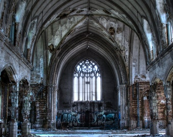 Abandoned Church in Detroit, 8x12, fine art photo