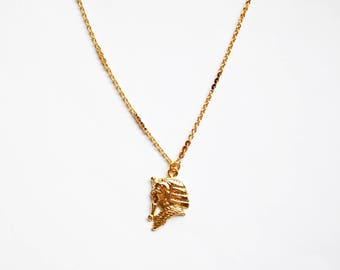 Pharaoh Necklace - Gold Necklace - Gold Chain Choker - Gold Chain Necklace - Gold Choker  - Chain Choker