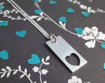 First Heart Silver Necklace