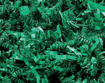Green Paper Shred, Gift Basket Filler, Christmas Gift Box Decorative Paper