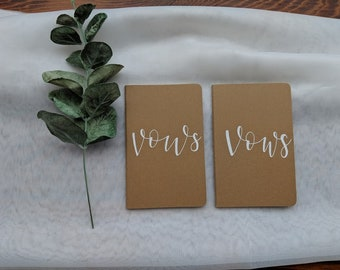 Vow Books - Kraft Paper and White - Calligraphy Lettering