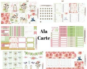 Daisy Moo Cow Weekly Planner - weekly Planner Stickers - planner kit - eclp vertical planner kit - vertical stickers - cute weekly